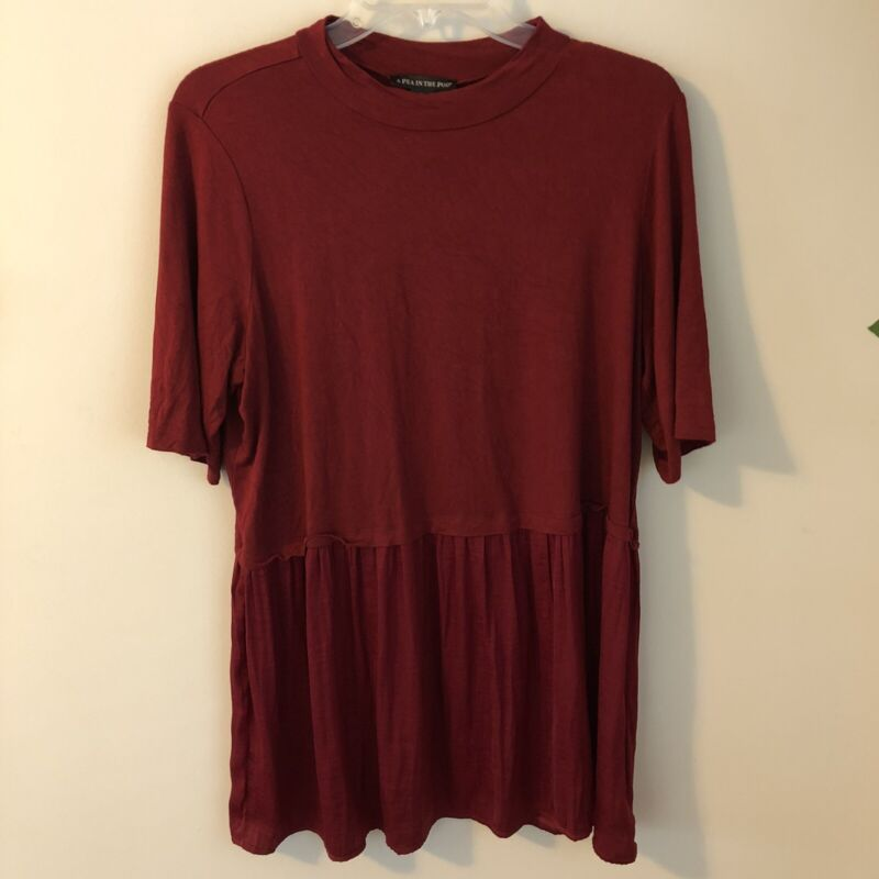 A Pea In The Pod  Maternity Top Wine Size Large