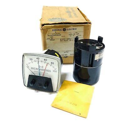 50-197330drzz2 General Electric Ge 0-100 Dc Microamperes Panel Meter