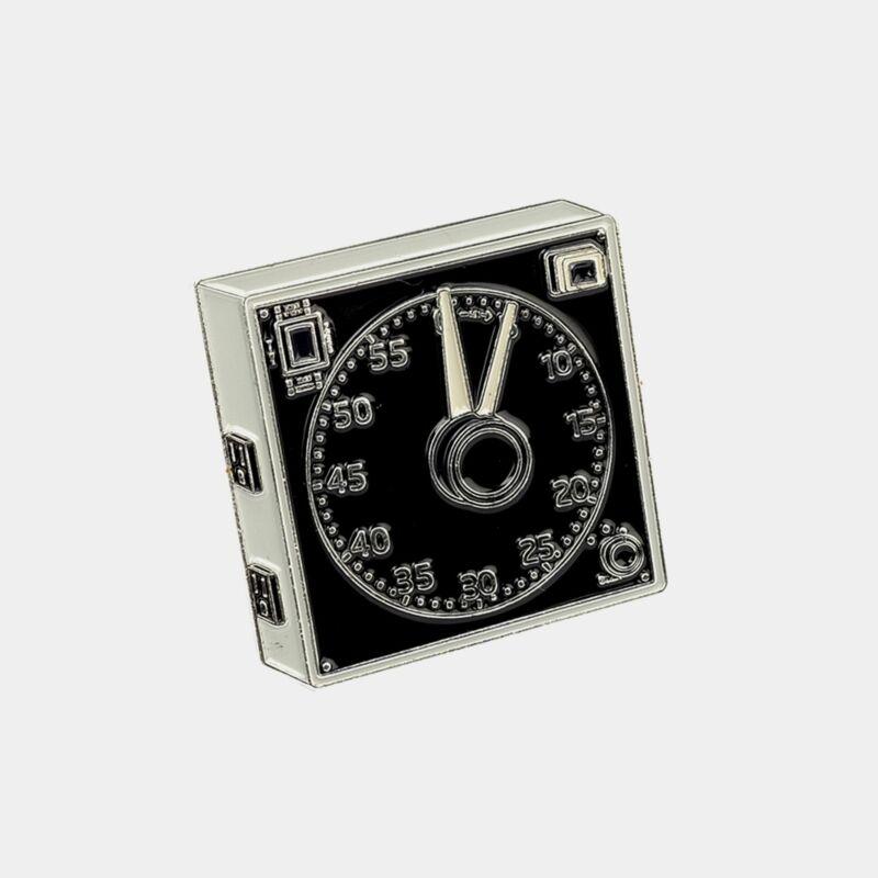 Darkroom Clock Enamel Pin