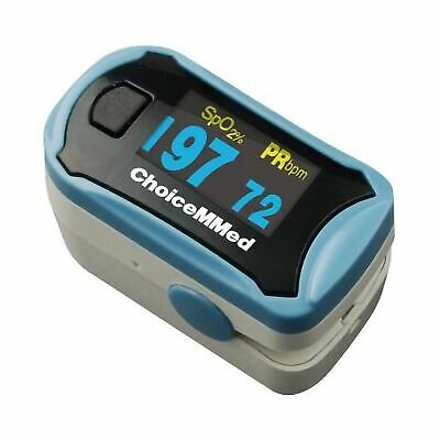 Choicemmed Spo2 Fingertip Blood Oxygen Pulse Oximeter Free Batteries Case