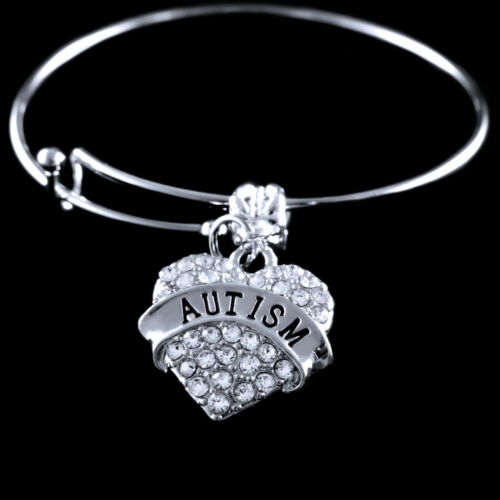 Autism bracelet Autism awareness Jewelry Autism awareness bracelet Crystal Heart