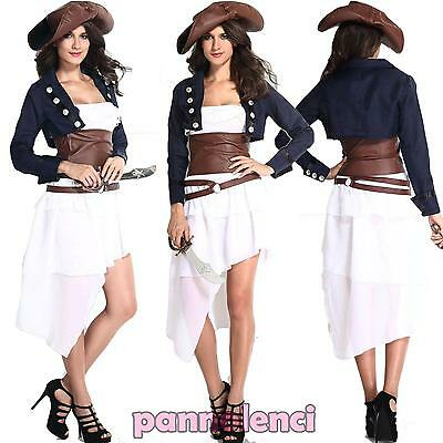Costume carnevale donna PIRATESSA DELUXE pirata travestimento halloween DL-1607](Costume Halloween Pirata)