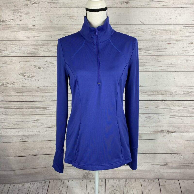 Z By Zella Womens 1/4 Zip Pullover Size Medium Purple Long Sleeve Yoga Running