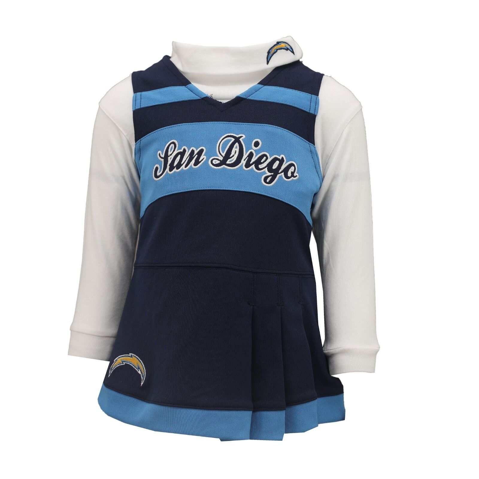 0a0fb622 Details about San Diego Chargers NFL Baby Infant Girls Size 2-Piece  Cheerleader Outfit New