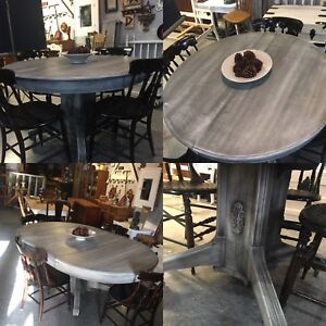 c1800's antique refinished table $650 plus more variety