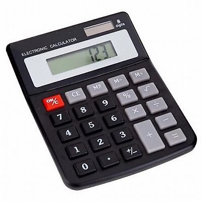 8 digit DUAL POWER DESKTOP CALCULATOR solar + battery *new + sealed* same day UK