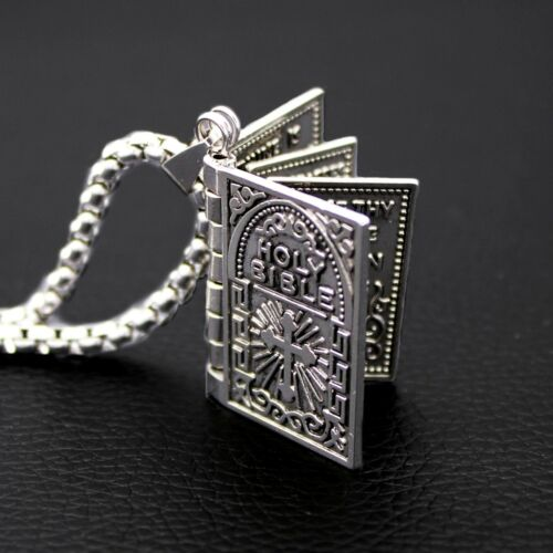 Bible Pendant Necklace Openable Lord