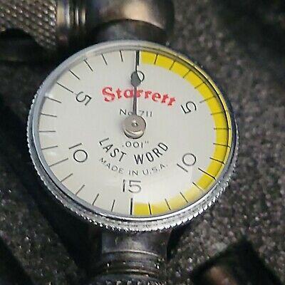 Starrett 711 Last Word Dial Indicator See Pics Free Shipping