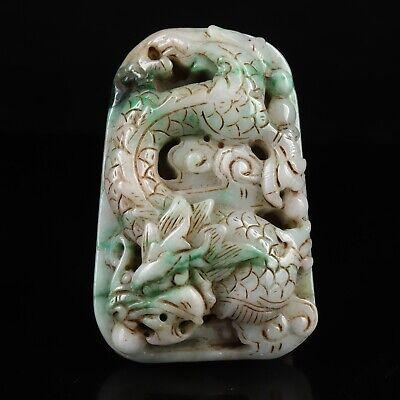 Certified Grade A Carved Green ice Jadeite jade Pendant oval flower Natural jadeite pendant,handmade engraving Amulet Pendant Gemstone Bead