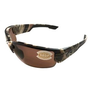 74d5ccb6fa79 NEW Costa Del Mar Rockport Sunglasses - Mossy Oak Camo - POLARIZED Copper  580P