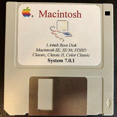 Macintosh System Boot Disk 7.0.1 (1.4mb) SE FDHD, SE/30, Classic, Classic II