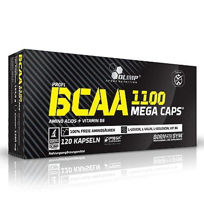 75 Mg 100 Kapseln ((10,75€/100g) Olimp BCAA Mega Caps 120 Kapseln à 1100 mg 154g, Leucin + Bonus)