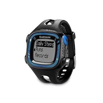 Garmin Forerunner 15 Black Blue Gps Running Watch   010 01241 00   Brand New