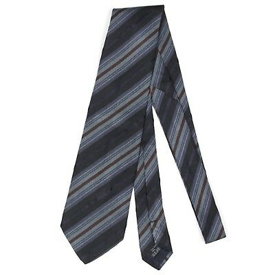 BURBERRY LONDON Shades of Blue Striped Mens Designer Silk Neck Tie
