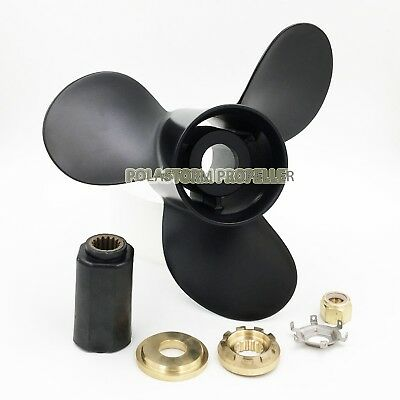 Aluminum Outboard Propeller 12 3/4X21 Pitch For Mercury 40-140HP 48-77348A45