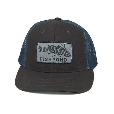 Ross Reels Hat Cap Fly Fishing Trucker Colorado USA Embroidery  # brn
