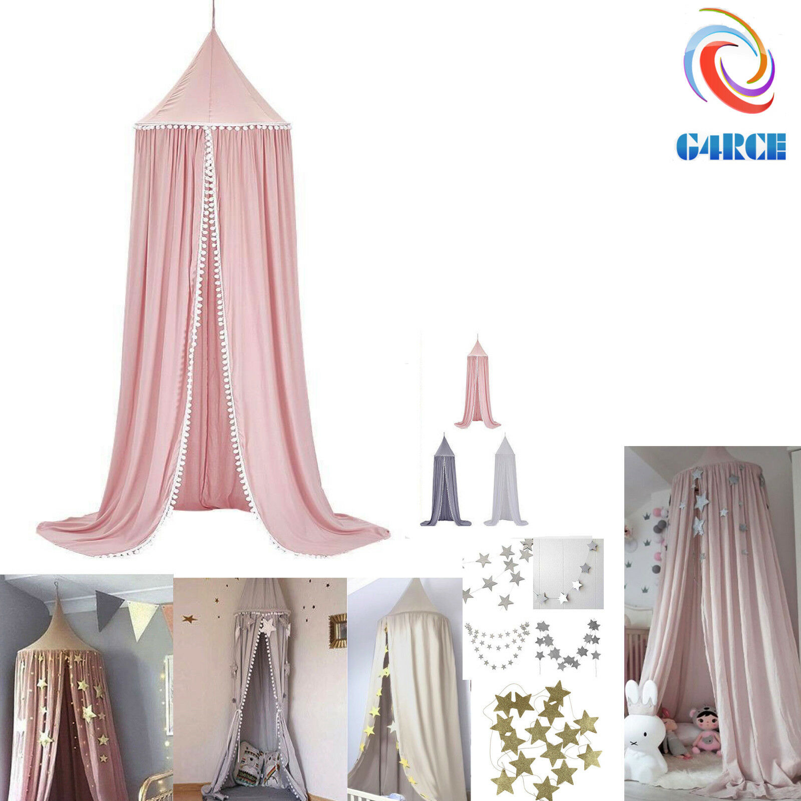 round ball children s bed canopy bedcover