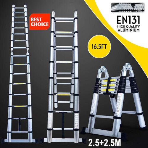 16.5Ft Step Ladder Extension Telescoping Lightweight Portabl
