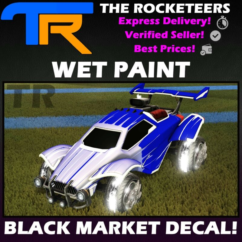 Pc Steam Rocket League Universal Black Market Decal Hex Tide