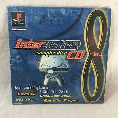 PlayStation Interactive Sampler Disc CD Volume 8 Tested Original Sleeve