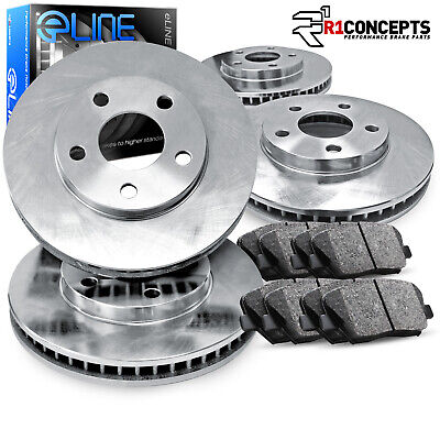 For 2004-2016 Bentley Continental Front Rear Plain Brake Rotors+Ceramic Pads