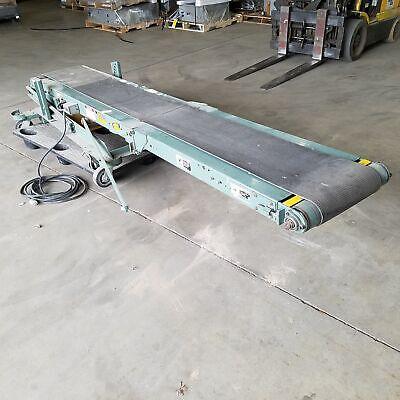 Hytrol Model Ba Portable Folding Booster Belt Conveyor 10 Feet 14 Wide Belt