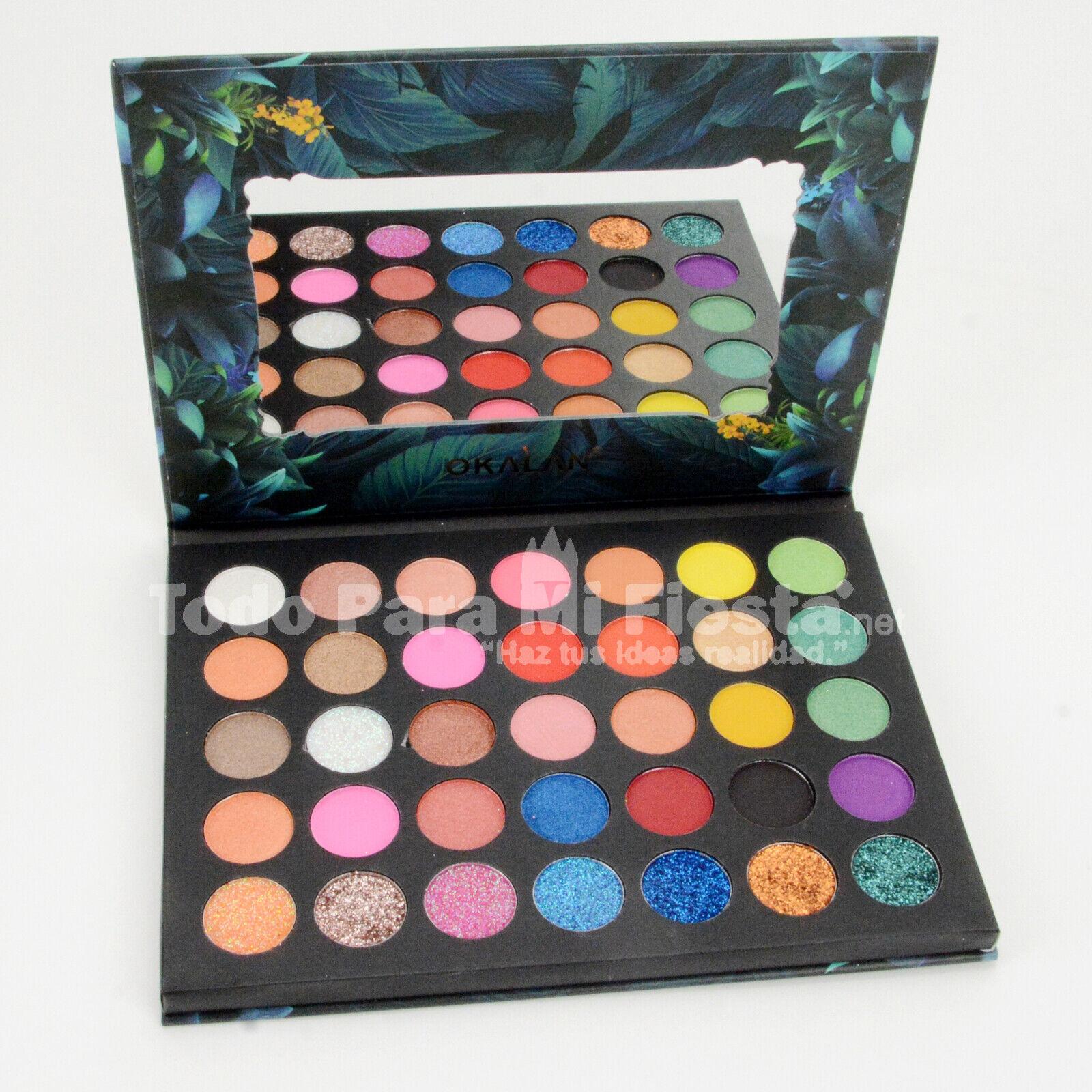 Okalan Color Burst Eyeshadow Palette High Pigment Glitter Ma