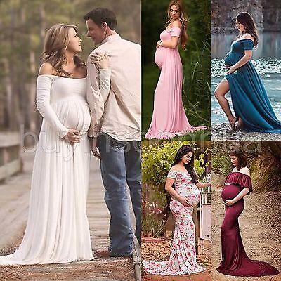 Sexy Maternity Maxi Gown Photography Photo Shoot Fancy Chiffon Maternity Dresses