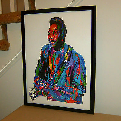 Original Muddy Waters Art Print By Phil Gibson Blues Guitar Poster Memphis DELTA