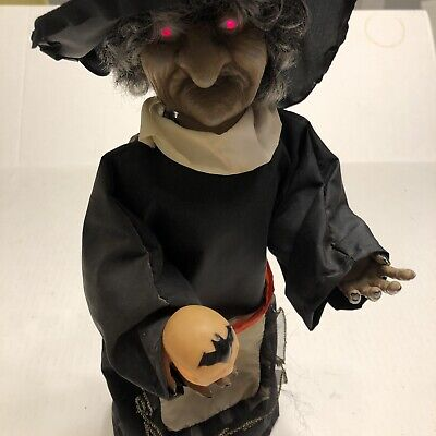 vintage moving witch decor halloween light motion Figure Laughing Skull