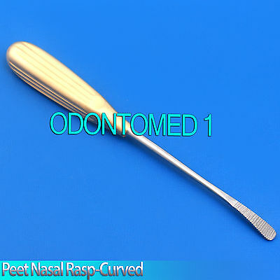Peet Nasal Rasp-curved Diamond Surface 17.5cm Plastic Surgery Instruments