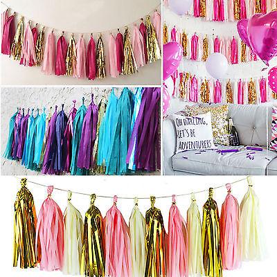 4m Tissue Paper Tassel Garland Diy Wedding Paper Birthdays Party - Tassel Garland Diy