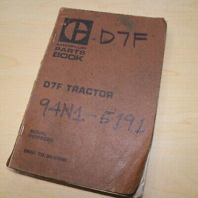 Cat Caterpillar D7f Tractor Dozer Crawler Parts Manual Book 94n Spare Catalog Oe