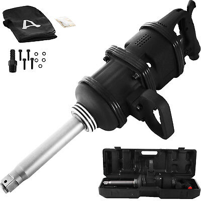 Industrial Air Impact Wrench 1 Pneumatic Compressor Long Shank 6800 N.m