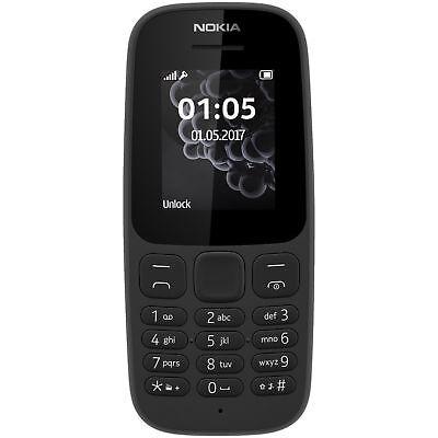 Nokia 105 Dual-Sim 2017 Handy, 1.8Zoll, 4MB -Schwarz-Ohne Vertrag-OVP