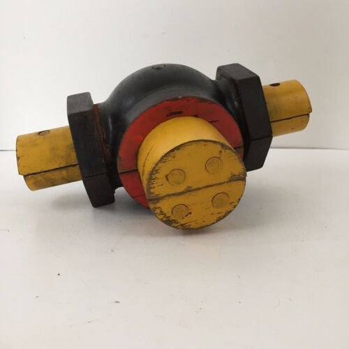 Wood Mold Foundry Pattern Antique Industrial Machinery Wooden Pipe - Steampunk