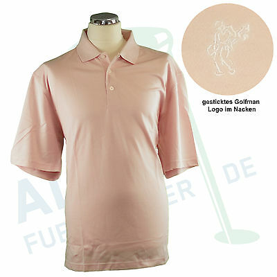 9702de217 Ashworth EZ Tech Hybrid Polo 55% Baumwolle 45% Polyester pink sand M   L  neu OVP