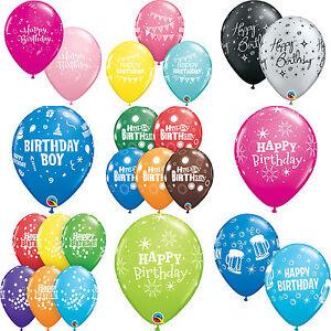 6x-globos-de-latex-039-Happy-Birthday-039-11-034-VARIOS-COLORES-Qualatex