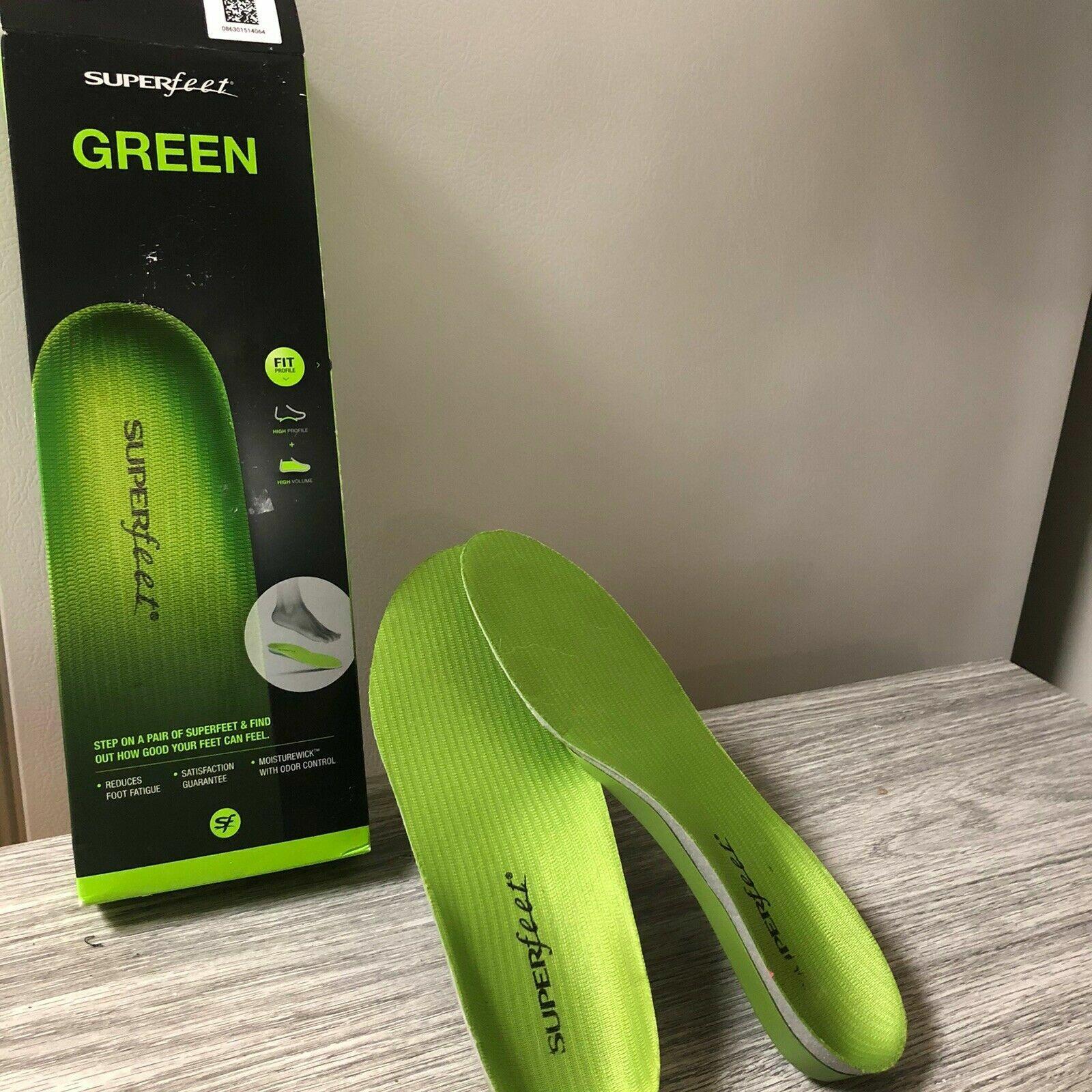 superfeet green insoles grade high arch support