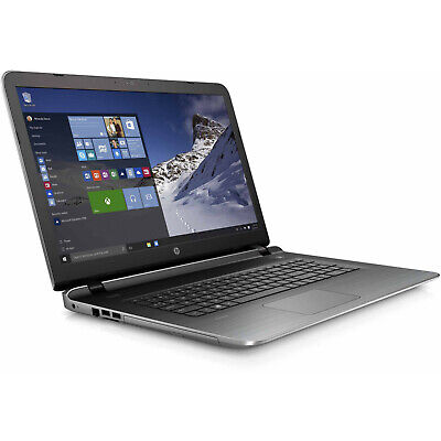 HP 17.3in Business LAPTOP 2.2Ghz 8GB 1TB DVDRW Win 10 Silver