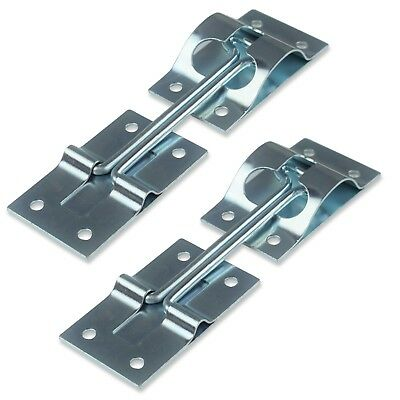 """2 Pack RV Trailer 4"""" T-style Entry Door Catch Holder All Metal with Bracket New"""