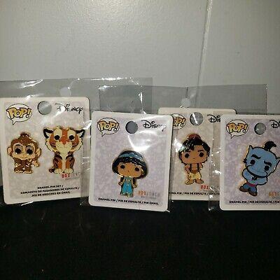 Funko Pop! Disney Princess Jasmin, Aladdin, Genie, etc Enamel Pin set
