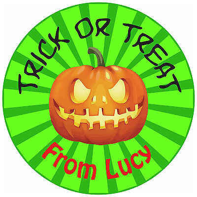 Personalized Halloween Goodie Bags (80 Personalised Halloween Stickers for partys trick or treat goodies party)