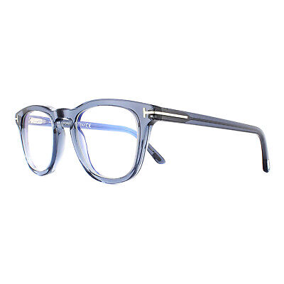 Tom Ford Glasses Frames FT5488-B 020 Blue Grey Crystal Clear UV Blue Block 49mm