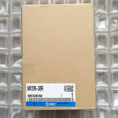 One New Smc Mxs16-30r Pneumatic Slide Cylinder In Box Spot Stock