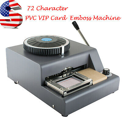 Us 72-character Letter Manual Embosser Stamping Machine Pvc Credit Card Maker