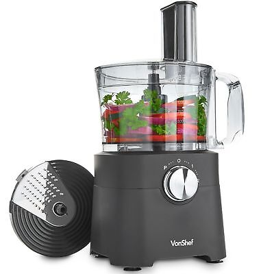 VonShef Food Processor, 8 Cup, Blender, Chopper, Multi Mixer Combo with Chopping