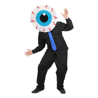 Mens MASKot Monster Cyclops Halloween Cosplay Costume Eyeball Mascot Mask Head