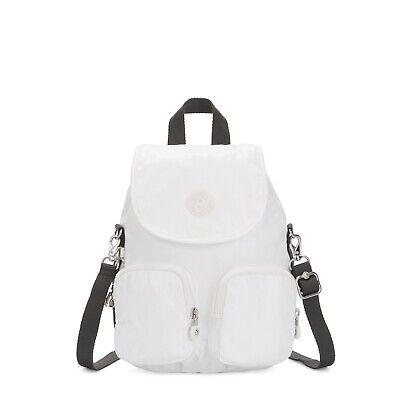 Kipling Small Backpack Firefly UP Shoulder Bag WHITE METALLIC SS2020  RRP £93