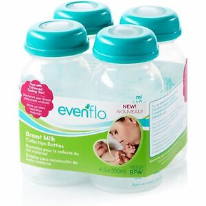 NEW - Evenflo Breast Milk Collection Bottles